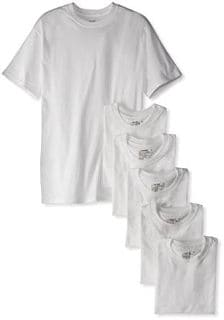 Hanes Men's Classic 6 Pack Crew Neck Tee
