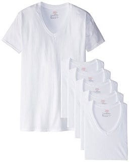 Hanes Men's Fresh IQ V-NeckT-Shirts (6Pack)