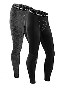 Neleus Men's 2 Pack Athletic Compression Sport Pants Running Tights