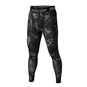 Smartdoo Men's Compression Cool Dry Base Layer Pants Under Leggings Sports Tights