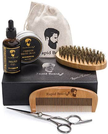 Beard Grooming & Trimming Kit for Men Care by Rapid Beard