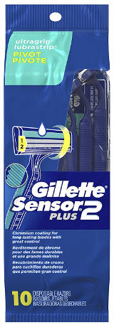 Gillette Sensor2 Plus Men's Disposable Razor
