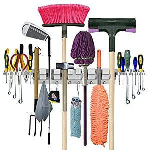Anybest Customized design Utility Wall-Mounted Garden Tool Rack Garage Storage and Organization Hangers