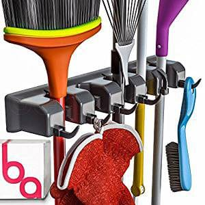 Berry Ave Broom Holder and Garden Tool Organizer for Rake or Mop Handles