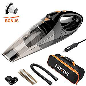HOTOR DC12-Volt Wet-Dry Portable Handheld Auto Vacuum Cleaner for Car,16.4FT(5M)