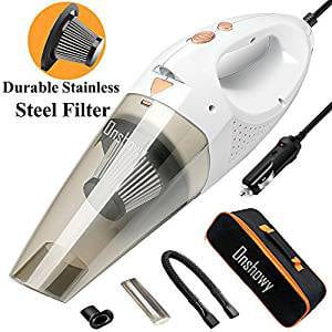 Onshowy 12V 106W Stainless Steel Filter Wet&Dry Handheld Auto Vacuum Cleaner