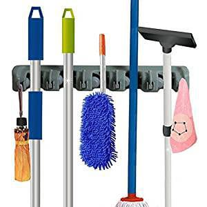 RockBirds Mop and Broom Holder Wall Mounted