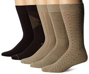 Dockers Men´s 5 Pack Classics Dress Dashed Crew Socks