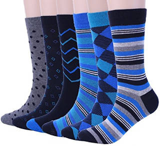 ADFOLF Men's Argyle Patterned Casual Business Long Crew Dress Socks