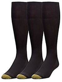 Gold Toe Men's Metropolitan Over the Calf Dress Socks