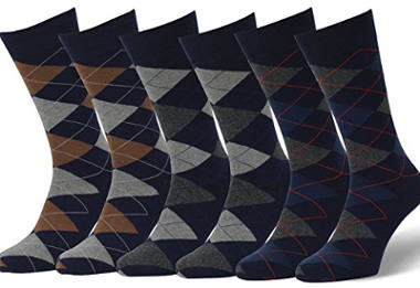 Easton Marlowe Men's 3/6 Pack Colorful Patterned Dress Socks