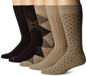 Dockers Men's Classics Dress Argyle Crew Socks