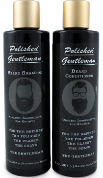 Polished Gentleman beard growth and thickening shampoo and conditioner set