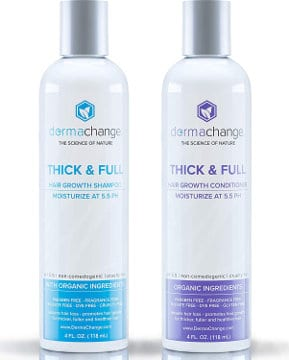 DermaChange Hair Growth Organic Shampoo and Conditioner Set