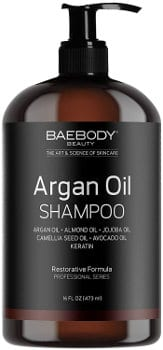 Baebody Moroccan Argan Oil Shampoo Infused with Keratin