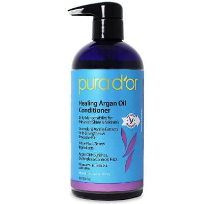 Pura D'OR Lavender and Vanilla Premium Organic Argan Oil Healing Conditioner